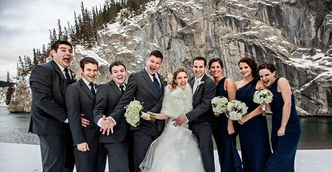 Wedding photographer in Canmore